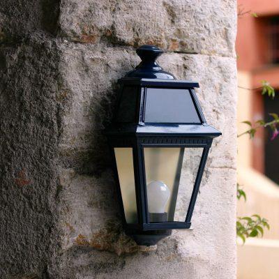 Roger Pradier buitenlamp Avenue 2 plat donkergroen AV3920