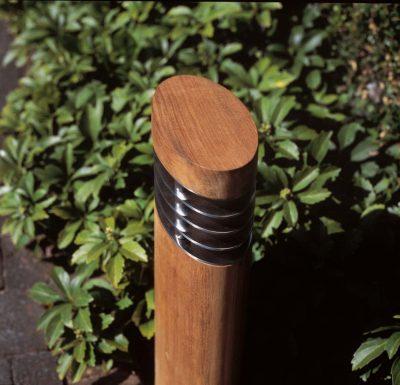 Ellipse teakhout Royal Botania hardhouten tuinverlichting, hoogte 40 of 70 cm.