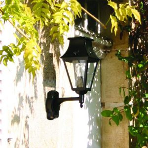 Buitenverlichting Vieille France 2 Roger Pradier zwart