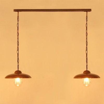 Tasni 2 hanglamp Tierlantijn 094 koper plafondlamp verouderd koper in webshop en showroom bij TuinExtra