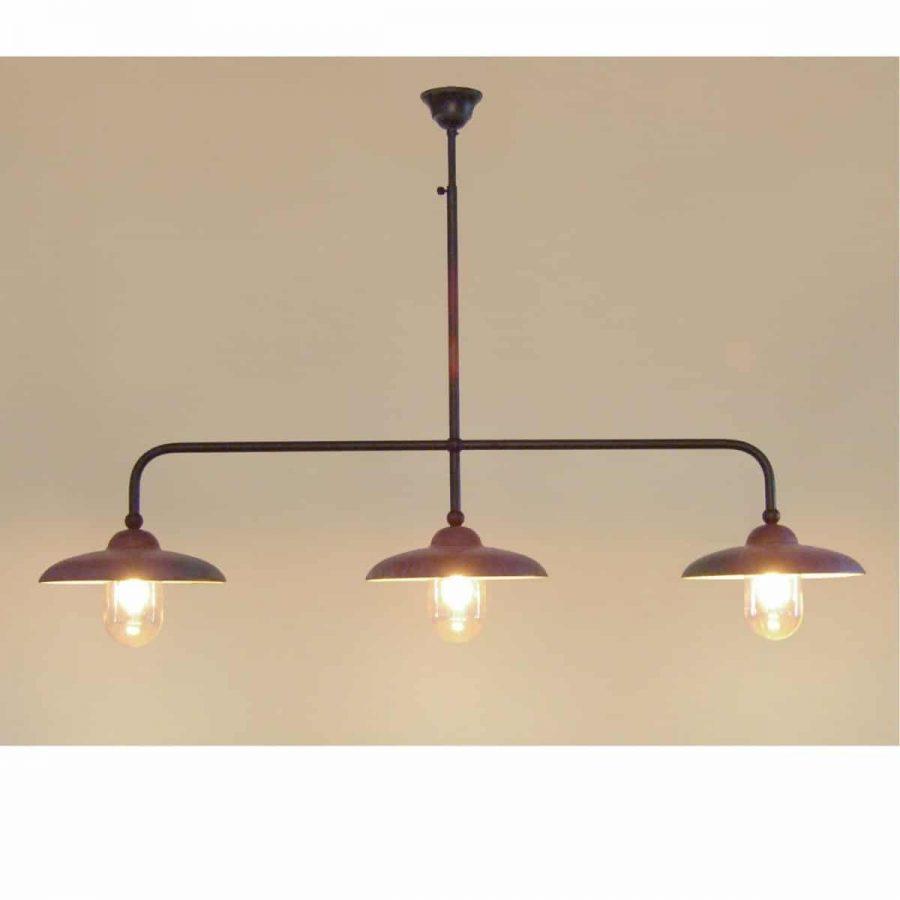 Miraso 3 hanglamp Tierlantijn 097 koper plafondlamp verouderd koper in webshop en showroom bij TuinExtra