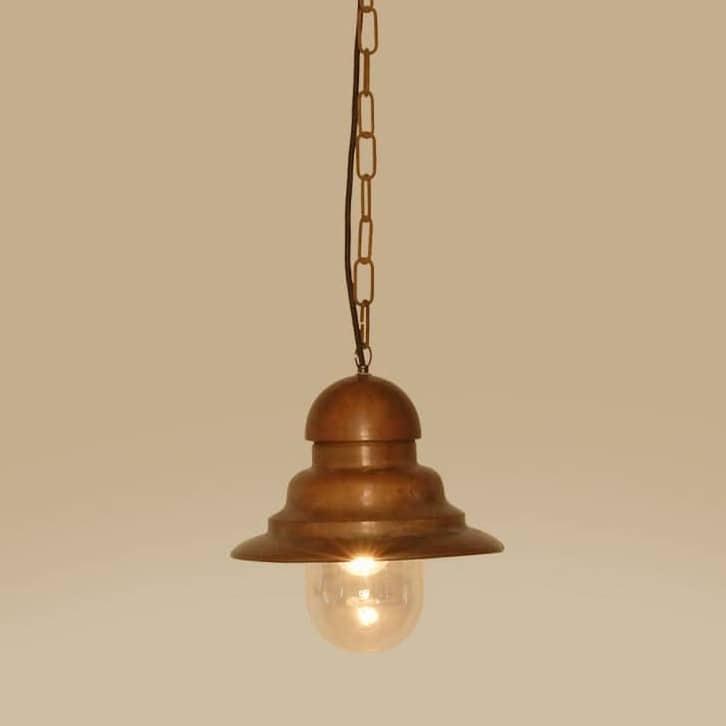 Cemino hanglamp Tierlantijn 123 koper plafondlamp verouderd koper in webshop en showroom bij TuinExtra