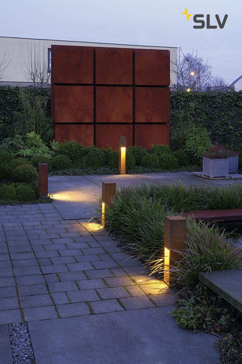 Rusty slot slv 50 cm tuinextra buitenverlichting cortenstaal