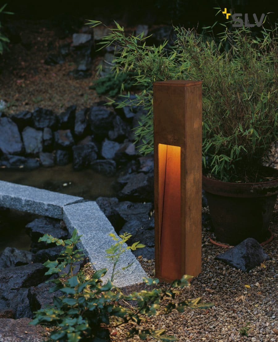 Rusty slot slv 80 cm tuinextra buitenverlichting cortenstaal