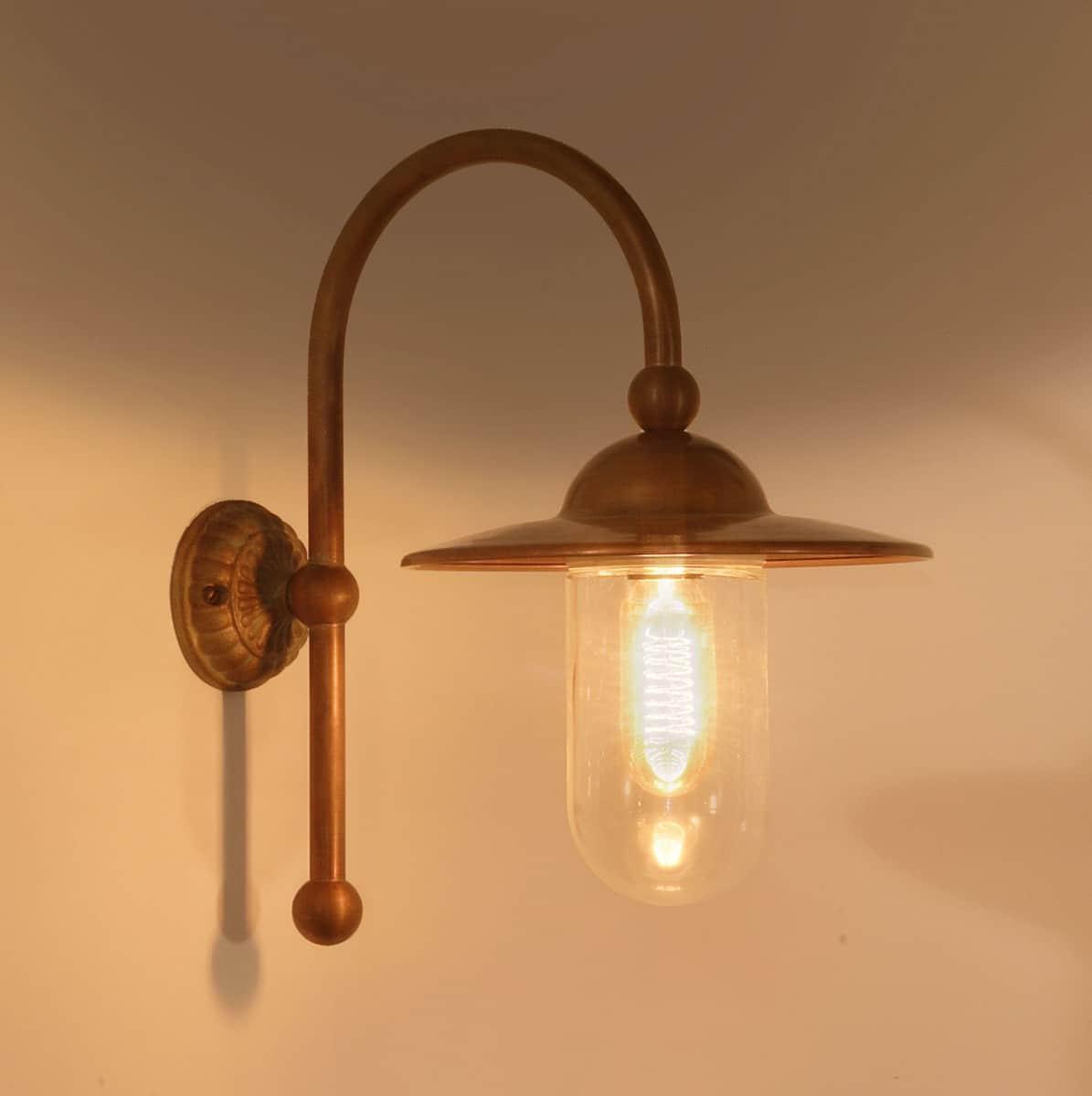 Tierlantijn verlichting 713 Piavon Landelijke koperen buitenlamp verouderd koper
