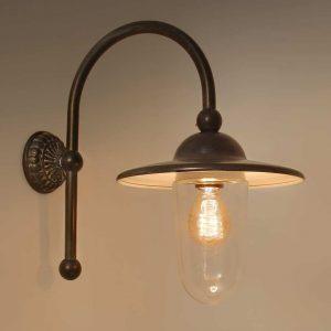 Piavon Tierlantijn buitenlamp 714 wandlamp lood finish in webwinkel en showroom bij TuinExtra