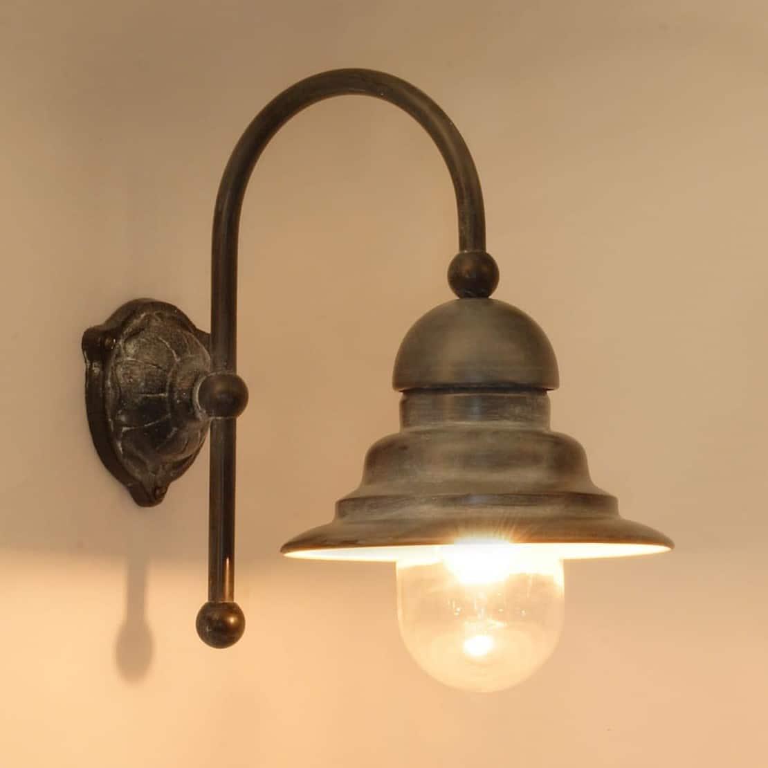 Ceggia Tierlantijn buitenlamp 716 wandlamp lood finish