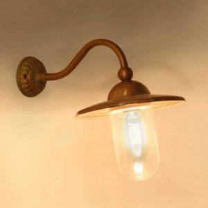 717 Marano Tierlantijn landelijke koperen buitenlampen in webwinkel en showroom bij TuinExtra