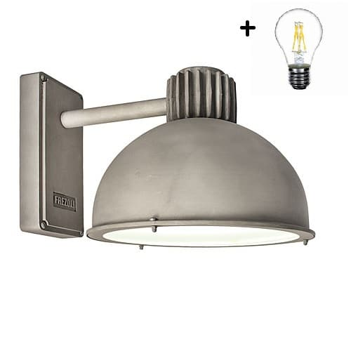 Frezoli Raz 816 buitenlamp zink finish TuinExtra industriele buitenverlichting