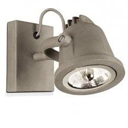 Dos 820 industriele spot buiten frelozi met zink finish for Stoere wandlamp