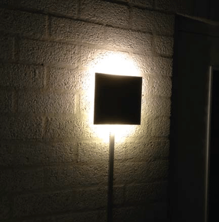 Wandlamp Square LED 2 x 2 watt