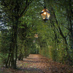 Buitenlamp Roger Pradier Place des Vosges 3 model 1 plafondlamp aan ketting
