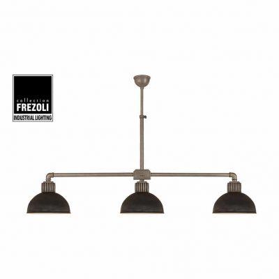 Raz 813.1.400 industriele plafondlamp hanglamp Frezoli met zink en lood finish bij TuinExtra in webshop en showroom.