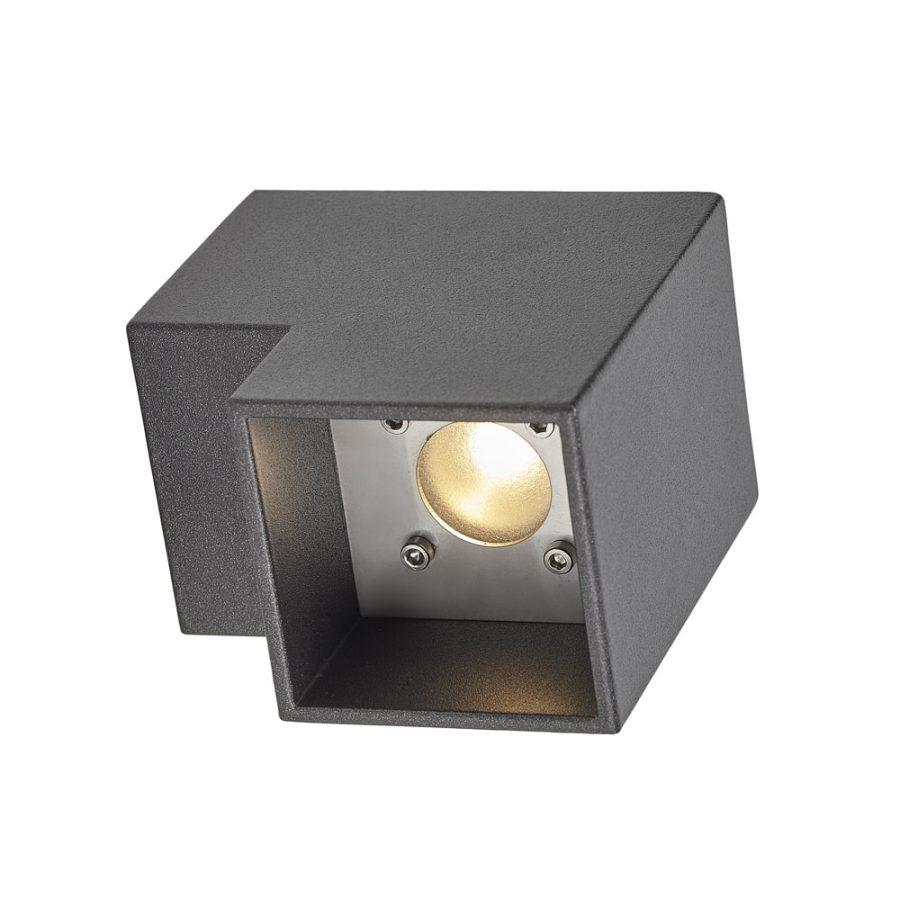 L wall buitenlamp wandlamp antraciet downlight led