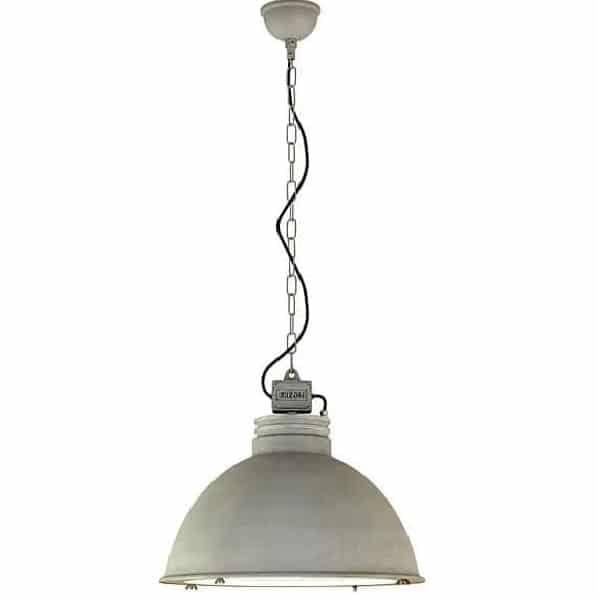 Orr 828.1.800 industriele plafondlamp buiten hanglamp Frezoli met zink finish bij TuinExtra in webshop en showroom.