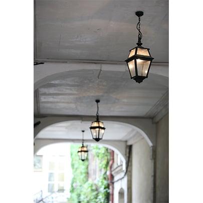 Kettinglamp hanglamp plafond roger pradier place des vosges 2 PV2 buitenlamp