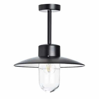 Plafondlamp Belcour Roger Pradier buitenverlichting stallampen zwart