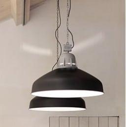 Torr Xl Frezoli hanglamp zinkfinish industriele plafondlamp zwart