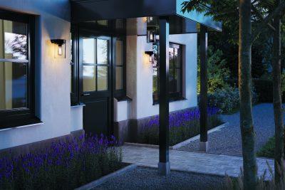 Royal Botania tesla wall wandlamp buitenlamp zwart