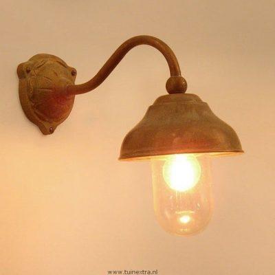 707 Cosali Tierlantijn landelijke koperen buitenlampen in webwinkel en showroom bij TuinExtra