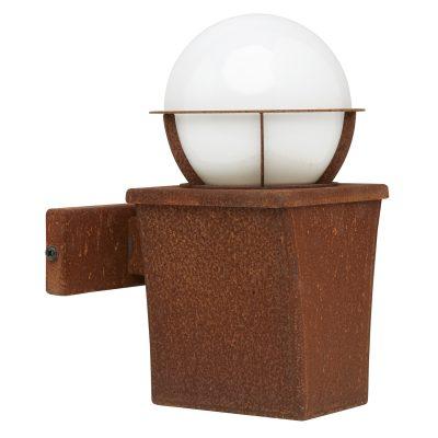 Buitenlamp Milano wand cortenstaal: exclusieve buitenverlichting