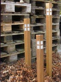 buitenlamp cortenstaal TuinExtra tuinverlichting vierkant