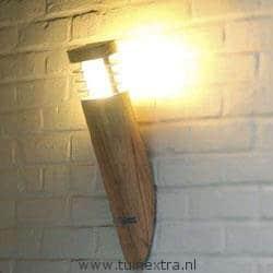Buitenlamp Royal Botania Ellipse teak wandlamp