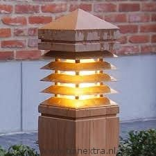 Buitenlamp Royal Botania Lighthouse 40 cm teak