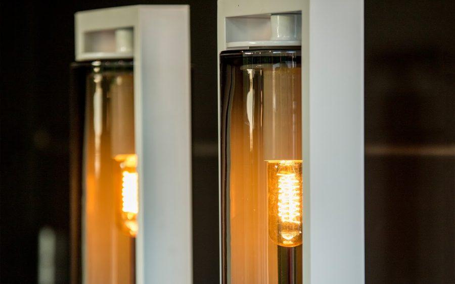 Buitenlamp Royal Botania Dome Floor amber glass terraslamp