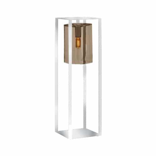 Dome move buitenlamp amber glas wit royal botania terrasverlichting