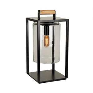 Royal Botania Dome small zwart smoke glas terraslamp