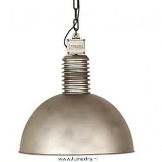 Lozz extra large Frezoli plafondlamp 819 zink finish hanglamp industrieel in webwinkel en showroom bij TuinExtra