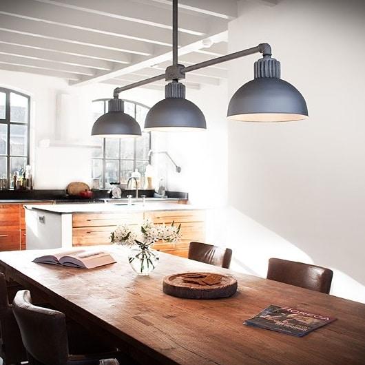 Raz Frezoli 3 Hanglamp Zink / Zinkfinish Kap Industriele