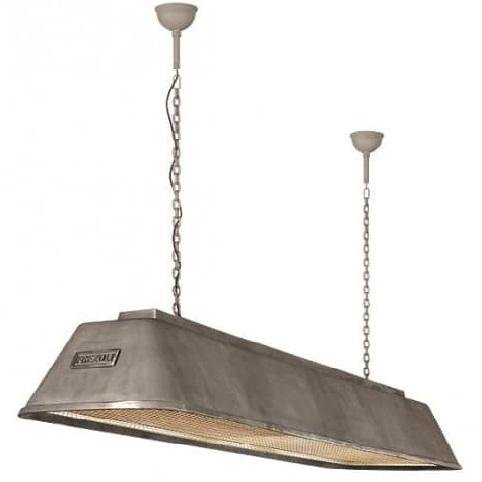 Bizz plafondlamp 835 Frezoli zink finish industriele hanglamp