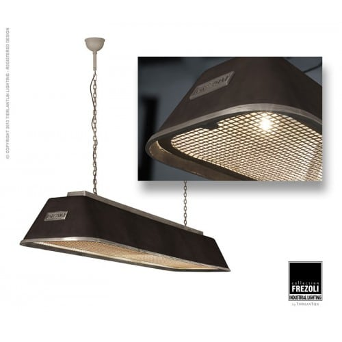 Bizz 8351.600 industriele plafondlamp hanglamp Frezoli met zink en black finish bij TuinExtra in webshop en showroom.