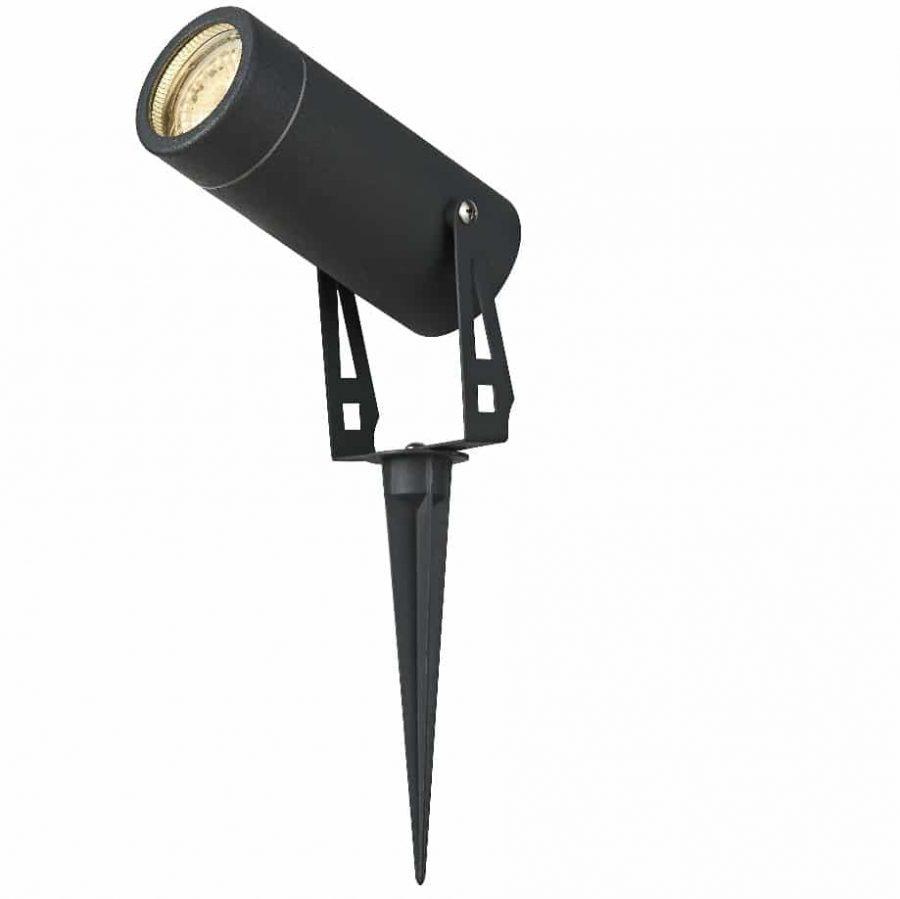 Prikspot matzwart LED 7 watt warmwit