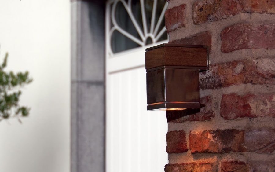 Royal botania q-bic wandlamp rvs teak downlight TuinExtra buitenverlichting
