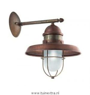 225.05.ORT il Patio: Il Fanale landelijke koperen verlichting in webwinkel en showroom bij TuinExtra,