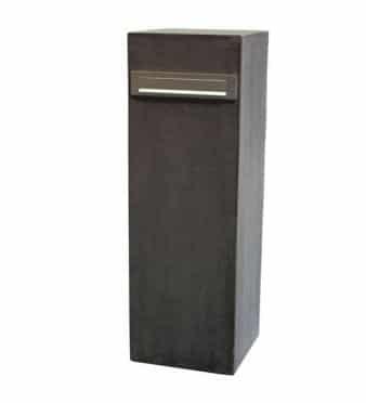 Brievenbus Colom beton antraciet glad (hardsteen uitstraling) bij TuinExtra in webwinkel en showroom maar ook Bobi