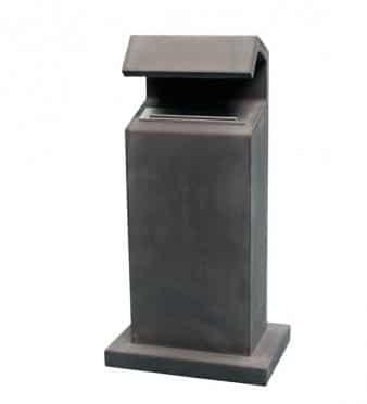 Brievenbus Comfort beton antraciet glad (hardsteen uitstraling)bij TuinExtra in webwinkel en showroom