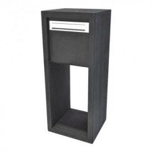 Brievenbus Novo beton antraciet glad (hardsteen uitstraling) bij TuinExtra in webwinkel en showroom maar ook Bobi