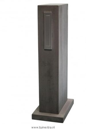 Block brievenbus beton antraciet