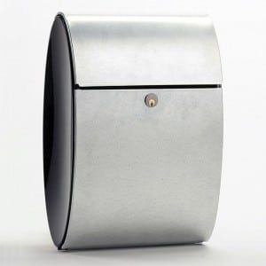 Allux Ellipse brievenbus gegalvaniseerd verzinkt