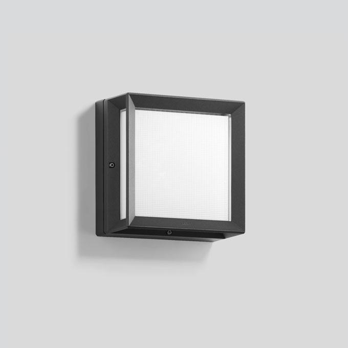 264 buitenlamp wandlamp vierkant grafiet of zilvergrijs
