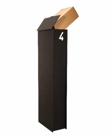Pakketbrievenbus eSafe Fenix Medium top matzwart TuinExtra