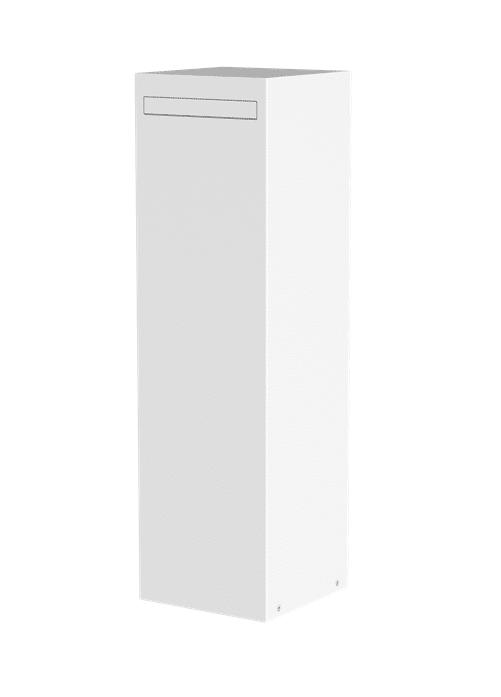 Brievenbus Limburg kolom in antraciet, zilvergrijs en wit TuinExtra