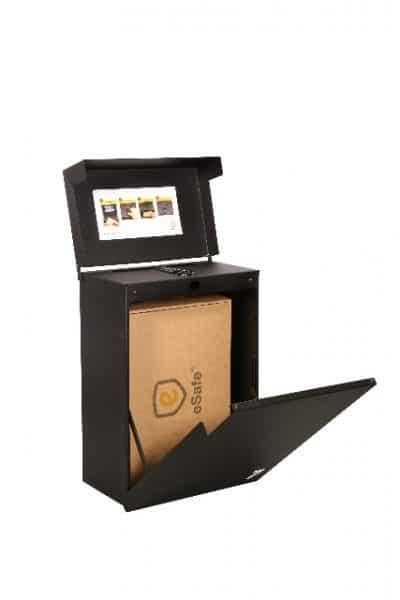 Esafe Topak pakketbrievenbus zwart met statief TuinExtra
