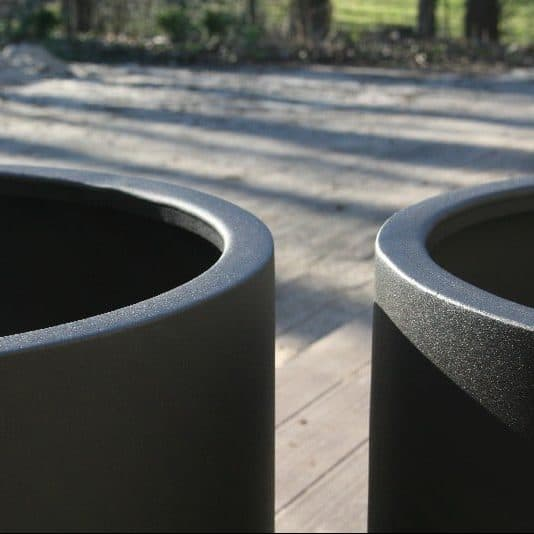 Bloembak aluminium antraciet tuinextra rond plantenbak