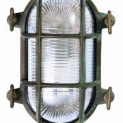 Bulleye messing verouderd stallamp TuinExtra