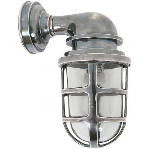 Industriële buitenlamp Brooklyn antiek zilver stoere verlichting
